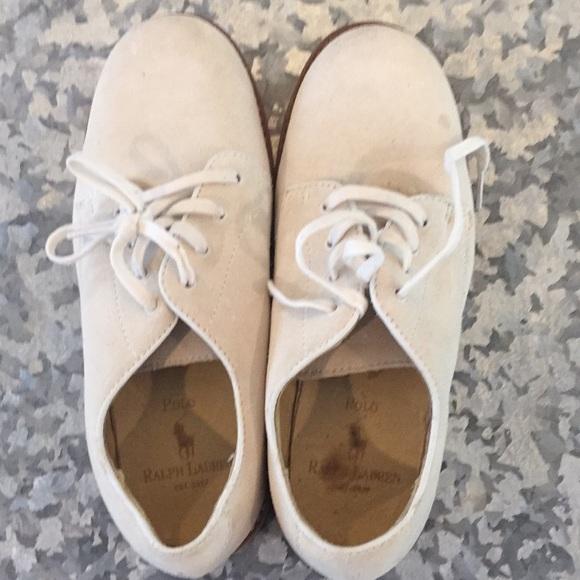 Ralph Lauren Shoes   Boys White Bucks